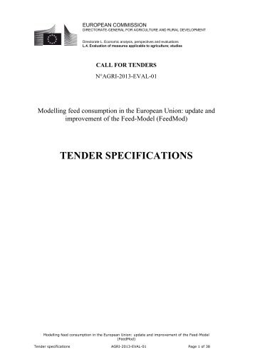 Tender specification template nepic tender specifications european commission europa pronofoot35fo Choice Image