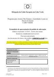 Delegação da União Europeia em Cabo Verde ... - Infoeuropa