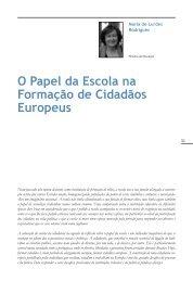 O Papel da Escola na Formação de Cidadãos Europeus - Infoeuropa