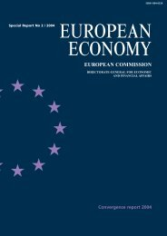 Convergence report 2004 - European Commission - Europa