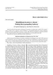 Rehabilitacja lecznicza w okresie Polskiej Rzeczypospolitej Ludowej