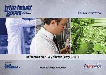 Informator wydawniczy 2013 - Utrzymanie Ruchu