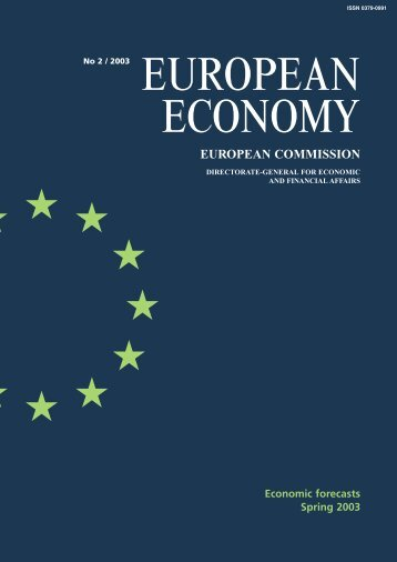European Economy. 2 /2003. Economic forecasts ... - Infoeuropa