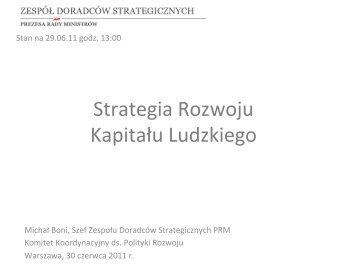 Prezentacja SRKL z KK - 30 czerwca 2011 r. - Raport Polska 2030