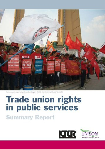 Trade union rights in public services - International Centre for Trade ...