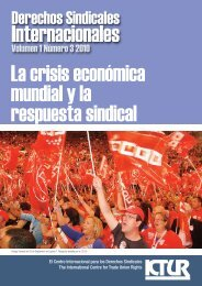 Revista Derechos Sindicales Internacionales - International Centre ...