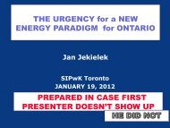 THE URGENCY for a NEW ENERGY PARADIGM for ONTARIO ...