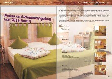 Preise und Zimmerangaben von 2015-Heft!!!