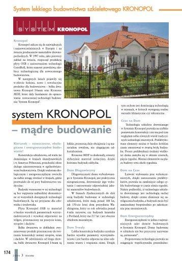 system KRONOPOL - Budujemy Dom
