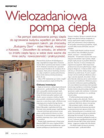 Wielozadaniowa pompa ciepła - Budujemy Dom