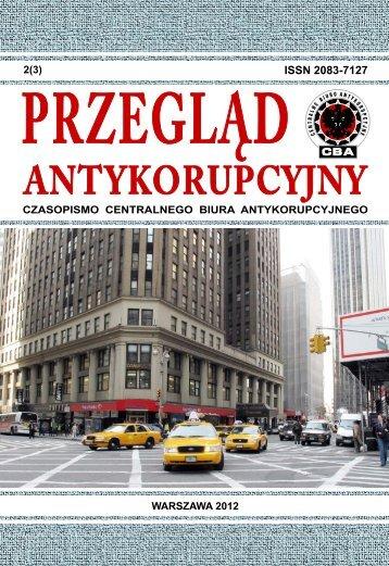 Przeglądu Antykorupcyjnego - Centralne Biuro Antykorupcyjne