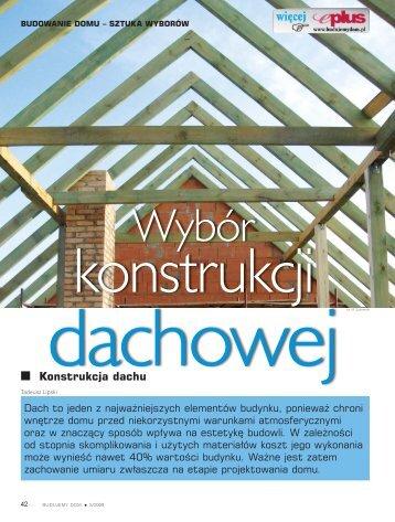 Konstrukcja dachu - Budujemy Dom