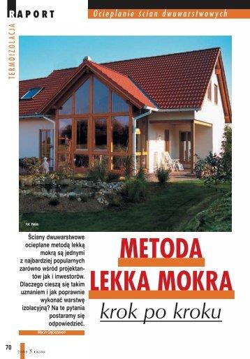 METODA LEKKA MOKRA - Budujemy Dom