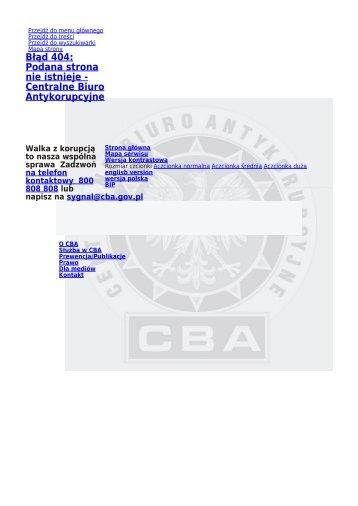 Rozstrzygnięcie Konkursu Szefa CBA