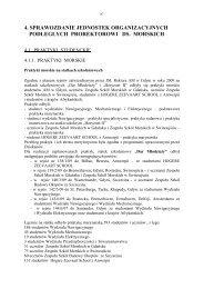 sprawozdanie jednostek organizacyjnych - Akademia Morska w Gdyni