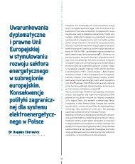 Uwarunkowania dyplomatyczne i prawne Unii ... - Elektroenergetyka