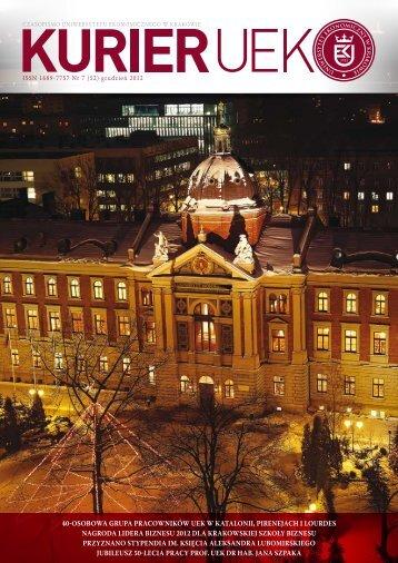 Grudzień 2012 - Uniwersytet Ekonomiczny w Krakowie