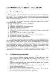 6. SPRAWOZDANIE PIONU KANCLERZA - Akademia Morska w Gdyni
