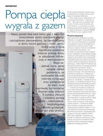 """Przeczytaj artykuł: """"Pompa ciepła wygrała z gazem"""". - EkoEMITER"""