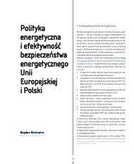 Polityka energetyczna i efektywność ... - Elektroenergetyka