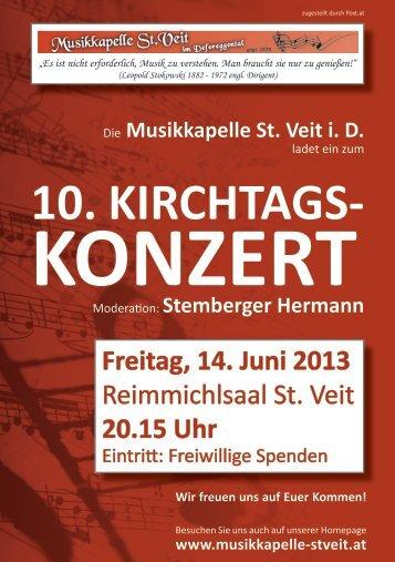 10. KIRCHTAGS- - Musikkapelle St. Veit