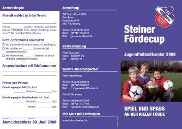 Anmeldeschluss 30. Juni 2008 - SportNord