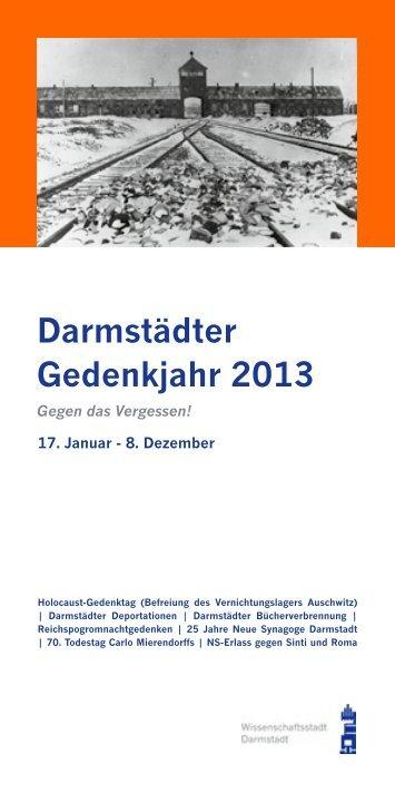 Darmstädter Gedenkjahr 2013 - Lokaler Aktionsplan Darmstadt