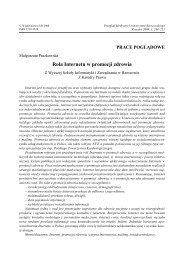 Rola Internetu w promocji zdrowia - Przegląd Medyczny ...