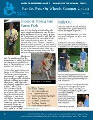Summer 2011 - Fairfax Pets On Wheels