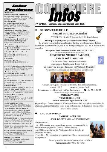 Bult 31-2006 PUB pour site internet.pdf - Mairie de Courpière