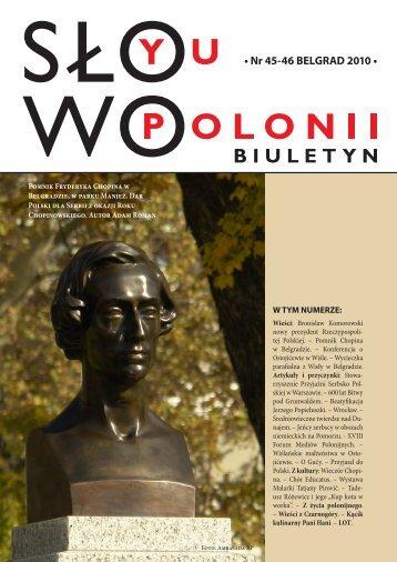 • Nr 45-46 BELGRAD 2010 • - Polonia-serbia.org