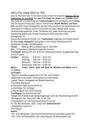 Aktiv Fun Camp Infos an die Eltern 2013! - tennis club dornbirn