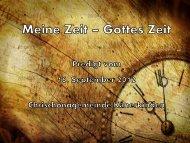 Meine Zeit – Gottes Zeit