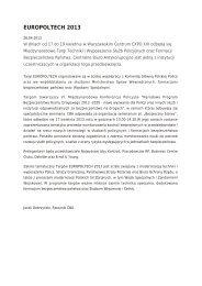 EUROPOLTECH 2013 - Centralne Biuro Antykorupcyjne