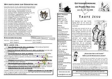 GoDi 2008 KW 03 und 04 kd - Katholische Pfarrei Herz Jesu