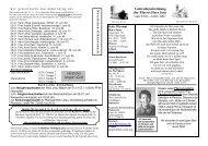 14.01.2007 Herzliches Vergelt´s Gott - Katholische Pfarrei Herz Jesu