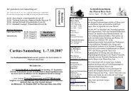 Caritas-Sammlung 1.-7.10.2007 - Katholische Pfarrei Herz Jesu