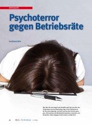 Psychoterror gegen Betriebsräte - Michaela Böhm | Journalistin ...