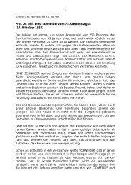 Prof. Dr. phil. Ernst Schneider zum 75. Geburtstag