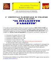 Il Bando completo e la Scheda di partecipazione - FITA Veneto