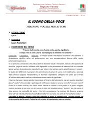 Il suono e la voce - FITA Veneto