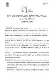 BANDO FESTIVAL ALTRO VOLTO - FITA Veneto