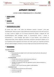 Luci e multimedialità a teatro - FITA Veneto