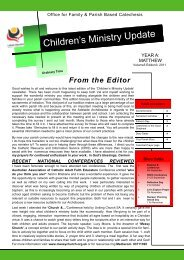 Newsletter Volume 5 Edition 3 2011 - the Archdiocese of Adelaide