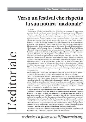 Numero di DICEMBRE 2008 per sito.indd - FITA Veneto