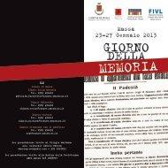programma iniziative 2013 - Comune di Massa
