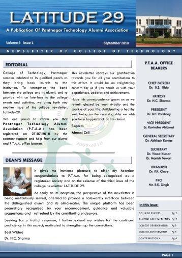 Vol II Issue I - College of Technology, Pantnagar