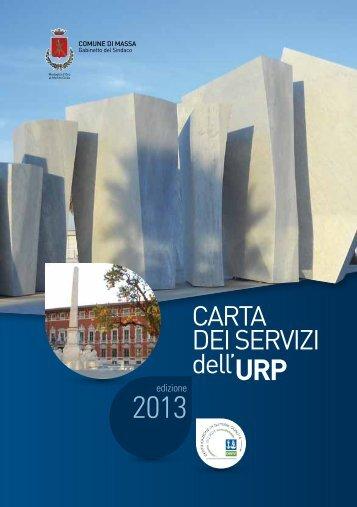 Carta dei Servizi dell'Urp 2013 - Comune di Massa