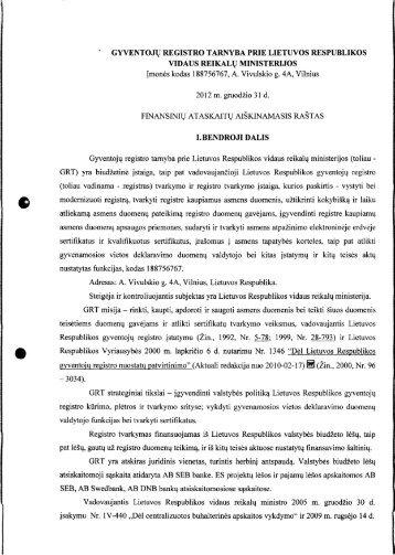 gyventojų registro tarnyba prie lietuvos respublikos vidaus reikalų ...