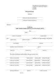 Gyvenamosios vietos deklaravimo ir deklaravimo duomenų tvarkymo